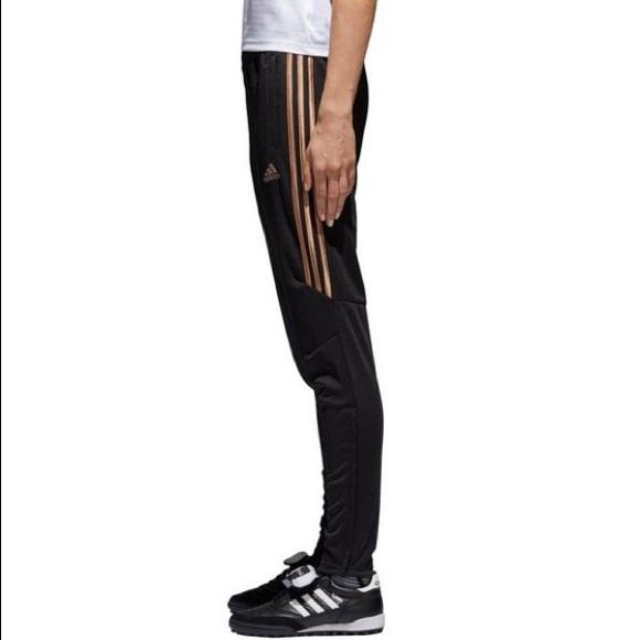 0ed1a440 adidas Pants | Nwt Metallic Gold Stripe Tiro 17 | Poshmark